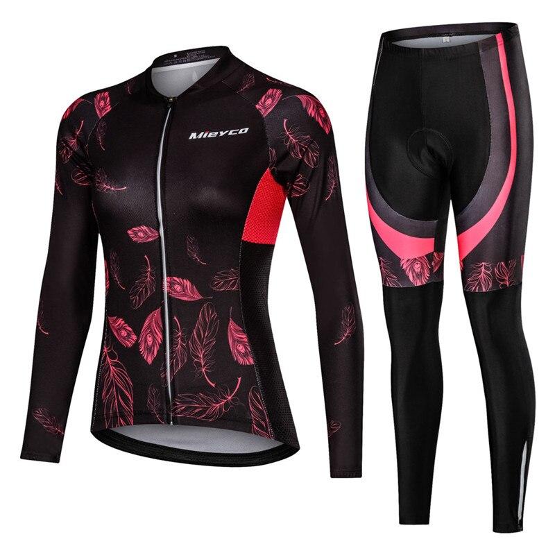 Women's Cycling Jersey Set Long Sleeve Roupa De Ciclismo Feminina Mountain Bicycle Clothing Suit MTB Bike Clothes Cycling Sets